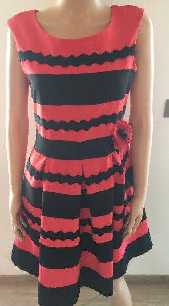 Dress Rinascimento Rinascimento Rinascimento Red Size L Made in Italie New 485e85