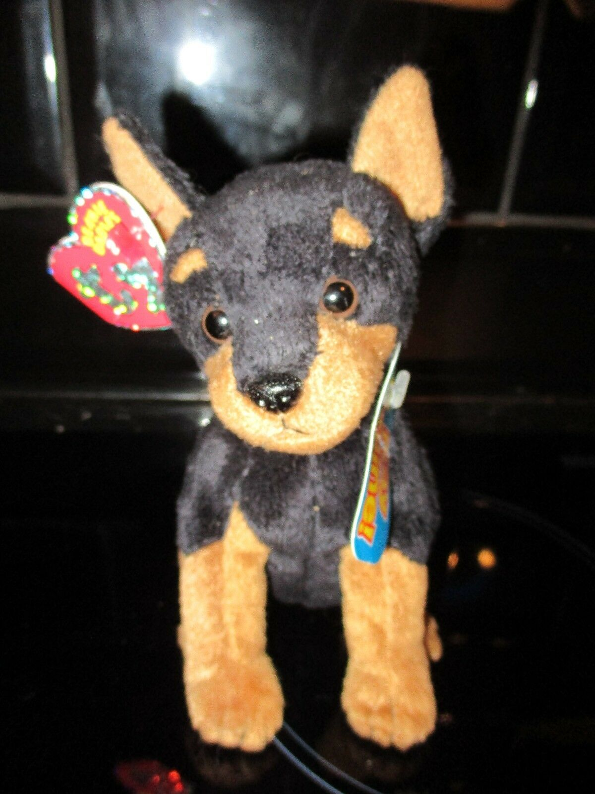TY TROOPER DOBERMAN PINSCHER BEANIE TOY VERY RARE BRAND NEW UNUSED SCRATCH CODE
