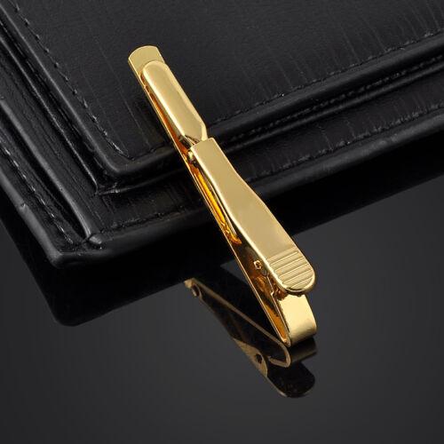 Silver Gold Men Necktie Tie Bar Fashion Clasp Clip Cufflinks Set Simple Gift 1pc
