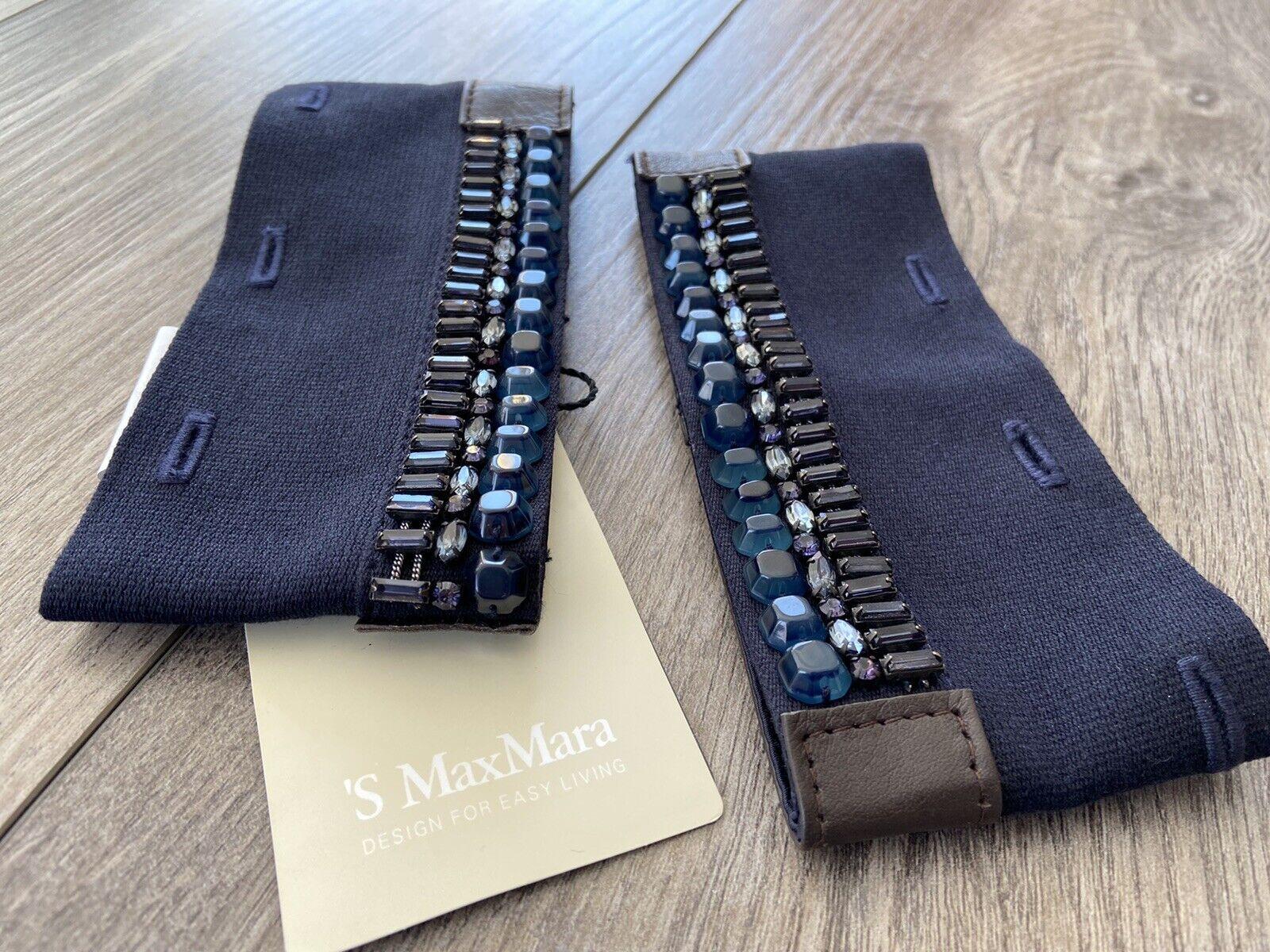 S Max Mara Women's Cufflinks 2 piece Accessories Nigeria Blue NWT