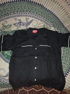 BRAND-NEW-AUTHENTIC-Supreme-Playboy-Bowling-Shirt-Black-SS17-size-M