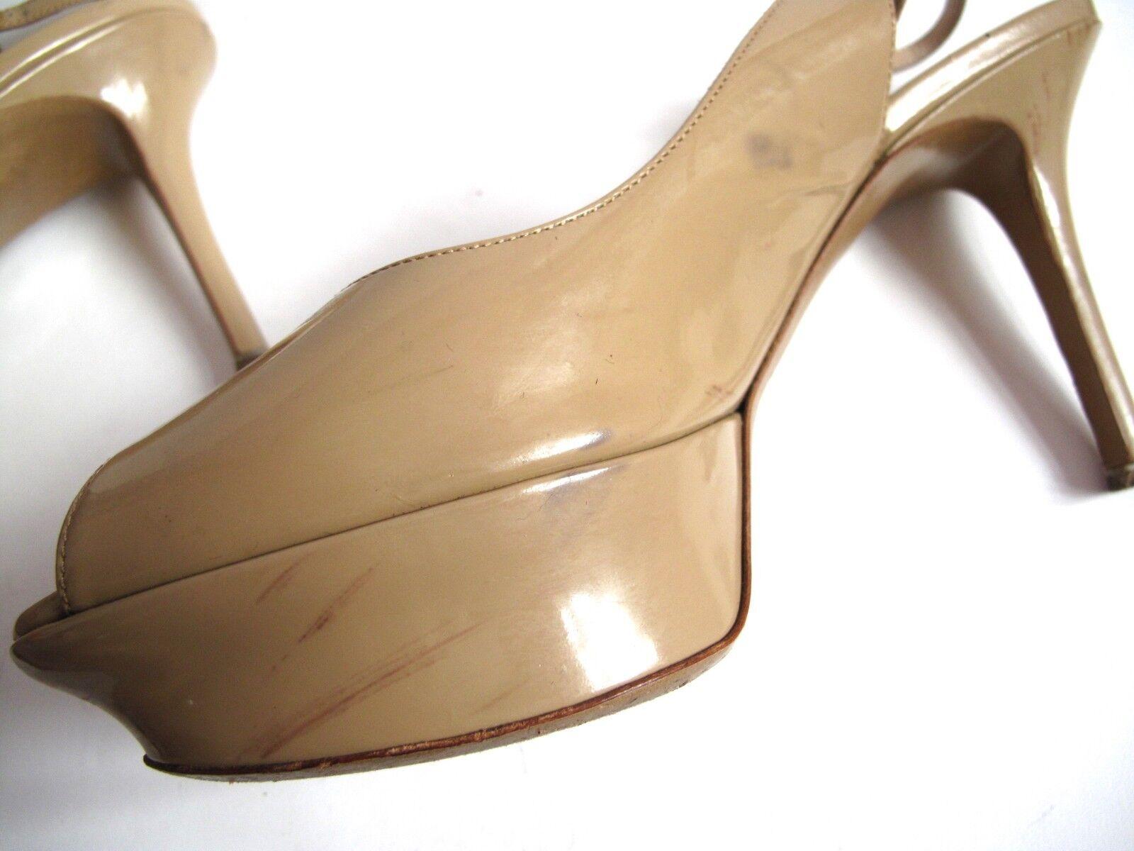 Nicholas Kirkwood Nude platform slingback heels UK 6 6 UK - EU39 - US8.5 ffaf4d