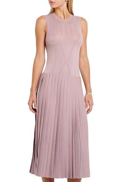 Bottega Veneta 100% Authentic DRESS IN pink BOUVARD SOFT LUREX WOOL NWT