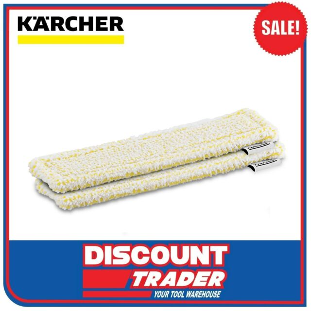 Karcher Window Vacuum Microfibre Cloths 2 Pack Suits WV2 WV5 Premium 2.633-130.0