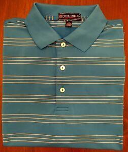 d72217953f3 Peter Millar The Bridges Logo Striped E4 Summer Comfort Polo Shirt ...