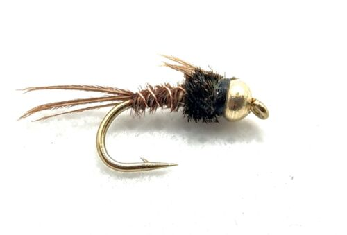 Goldhead PHEASANT TAIL Nymph Trout Flies PTN 3 Pack Fly Fishing Size 10,12,14