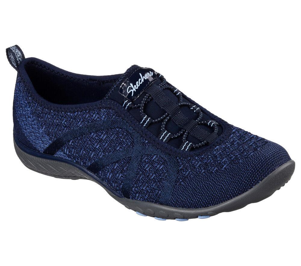 NUOVO Skechers da donna scarpe da da da ginnastica Slipper MEMORY FOAM Breathe-Easy-fortuneknit BLU 6ae07e