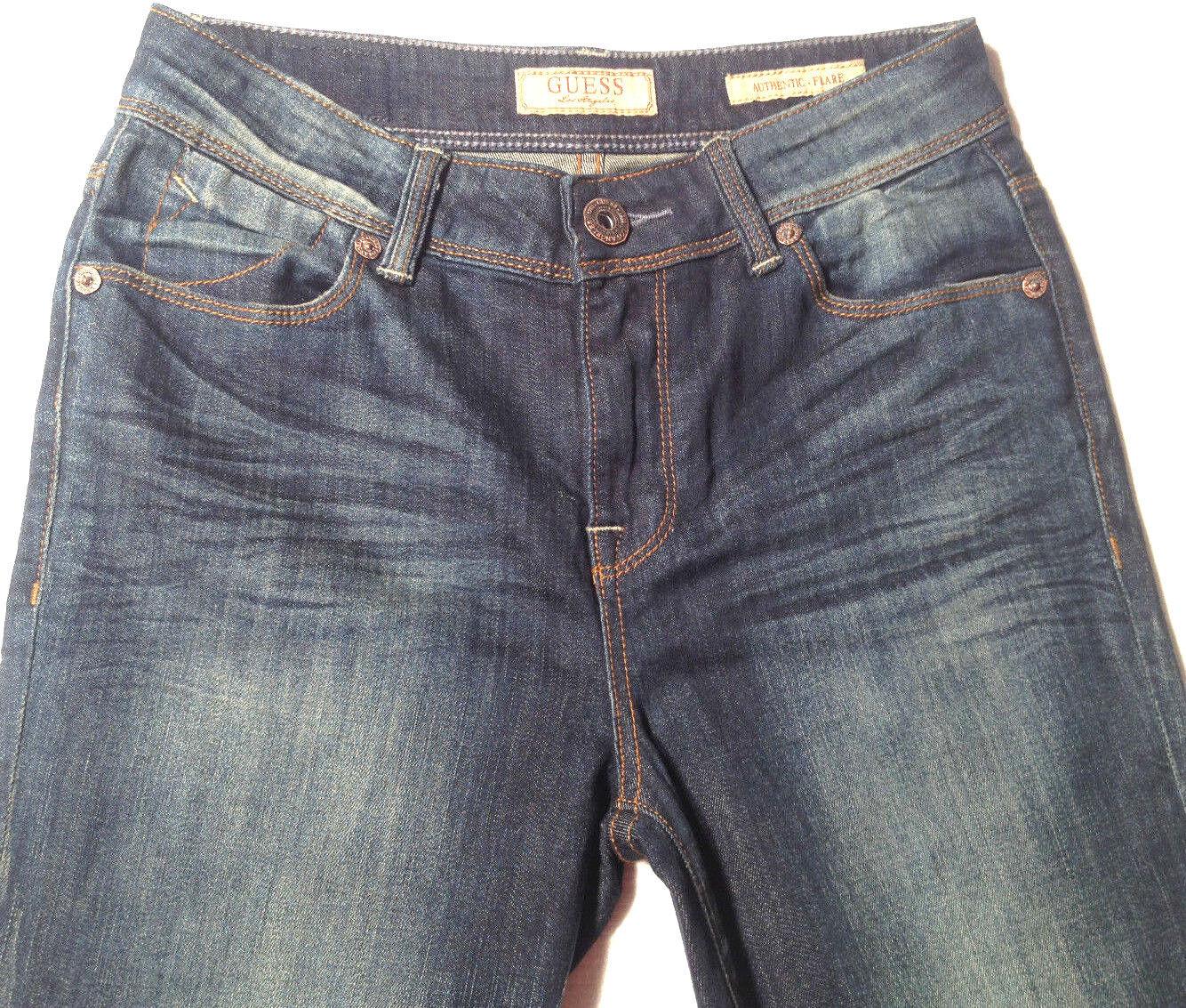 Guess Premium Jeans 'AUTHENTIC FLARE' W28 L34 AU10 Indigo NEW RRP  219 Womens