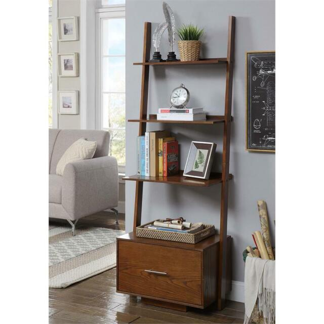 ff34eb0d24 Convenience Concepts American Heritage Ladder Bookcase with File Drawer for  sale online | eBay