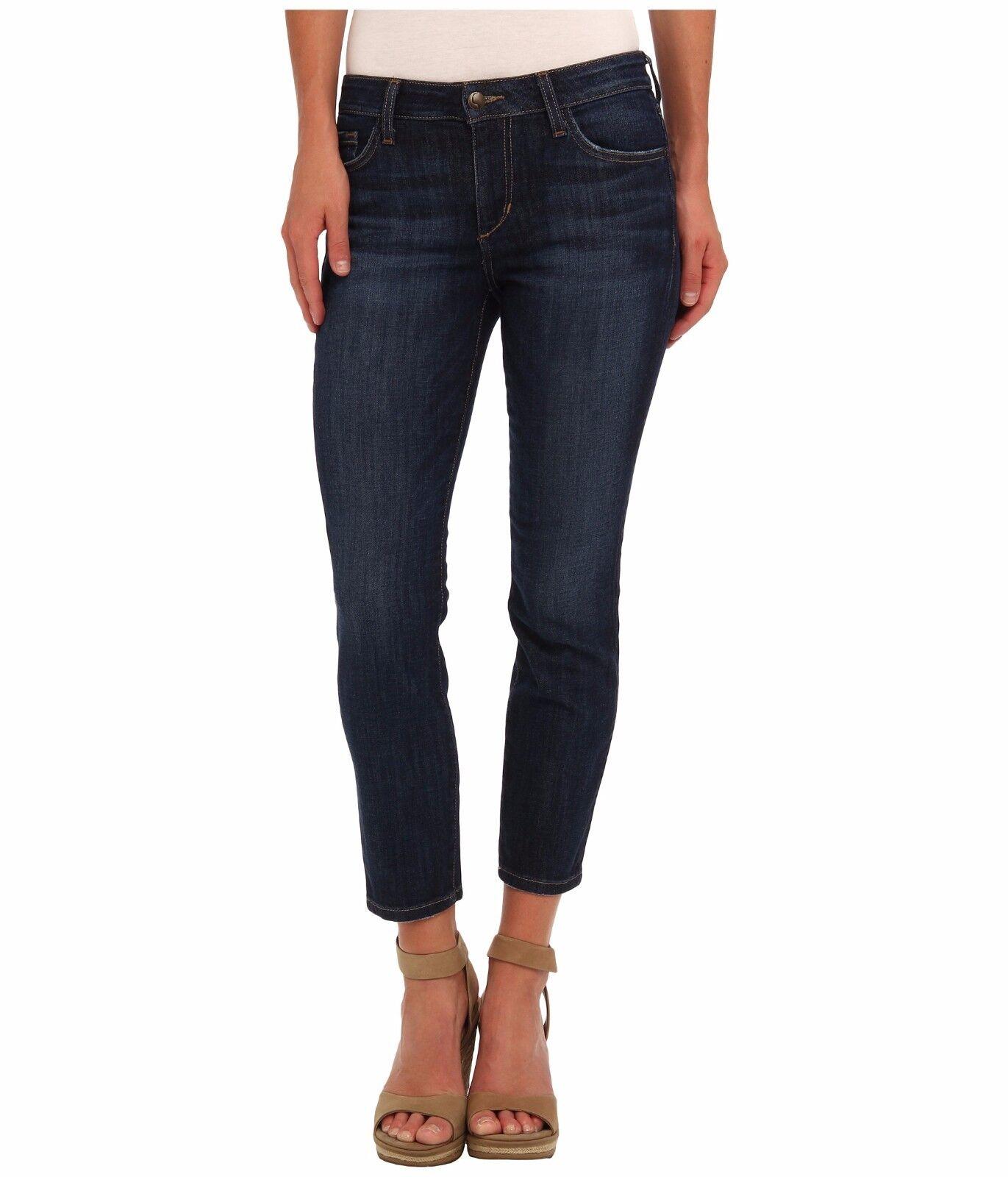 Joe's Jeans Curby Crop in Clara Dark bluee Women's Jeans Mid Rise Fits Skinny 25