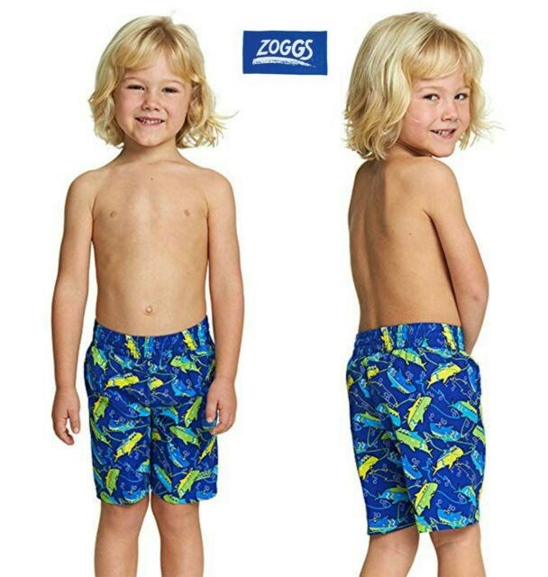 464c8274bb Junior Boys ZOGGS Swimming Shorts Trunks Swim Mesh Lined Age 2-3 Blue  Toddler