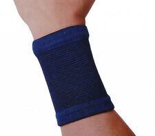 Blue Elasticated Wrist Sprain Bandage Sleeve Support Hand Sport Arthritis Gym