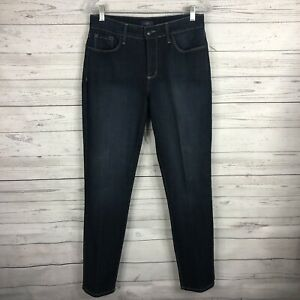 NYDJ-Not-Your-Daughters-Jeans-Alina-Skinny-Jeans-Leggings-Size-8-Dark-Wash