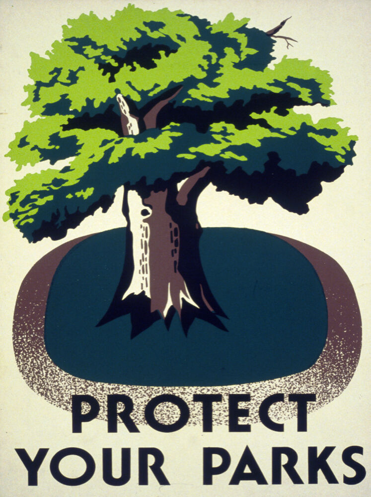 2210. Protect your Parks Parks Parks nature Painting Decoration POSTER. Home Graphic Design. e35eaa