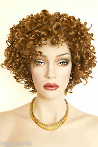 Image is loading Strawberry-Blonde-Red-Short-Curly-Wigs e0cc2098b