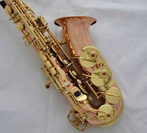 Professional-TaiShan-Rose-Brass-Alto-Sax-Eb-Saxophone-High-F-Saxofon-With-case