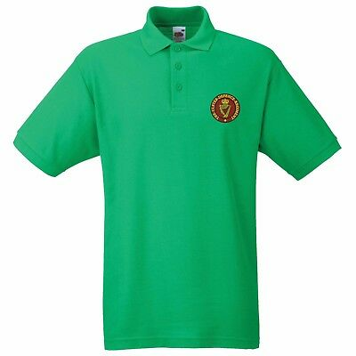 RUC Royal Ulster Constabulary Quality Gents Embroidered Green Polo T Shirt