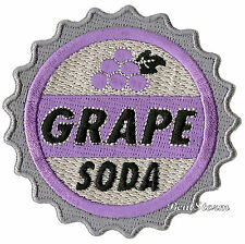"""Disney UP Movie Grape Soda Bottle Cap Embroidered IRON ON Patch Badge 3"""" Round"""