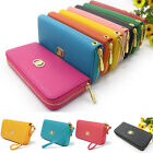 Fashion Women Leather Wallet Zip Around Case Purse Lady Long Handbag Bag Clutch