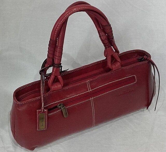 Jane Shilton Leather Handbag Red Nqp