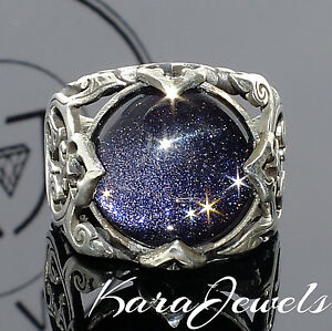 925 sterling silver s gemstone ring with blue