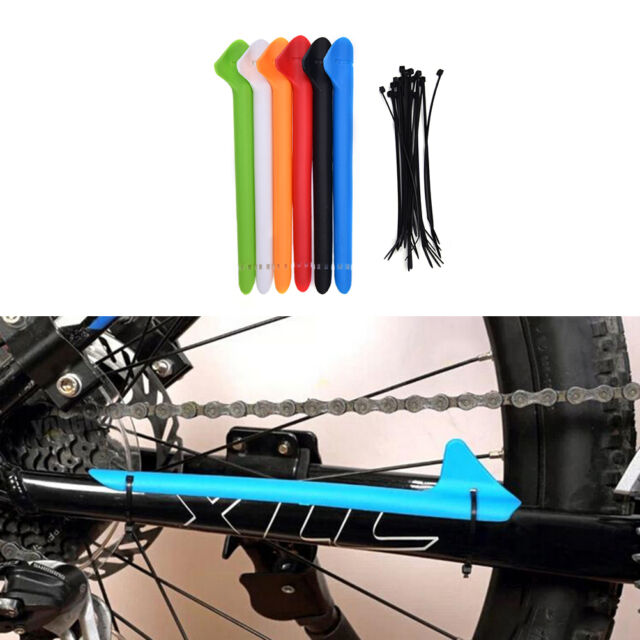 Black Outdoor MTB Bike Bicycle Frame Chain Stay Protector Cover Guard Pad 1X