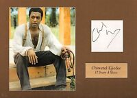 CHIWETEL EJIOFOR-12 YEARS A SLAVE-SIGNED CARD & PHOTO DISPLAY-AFTAL/UACC RD316