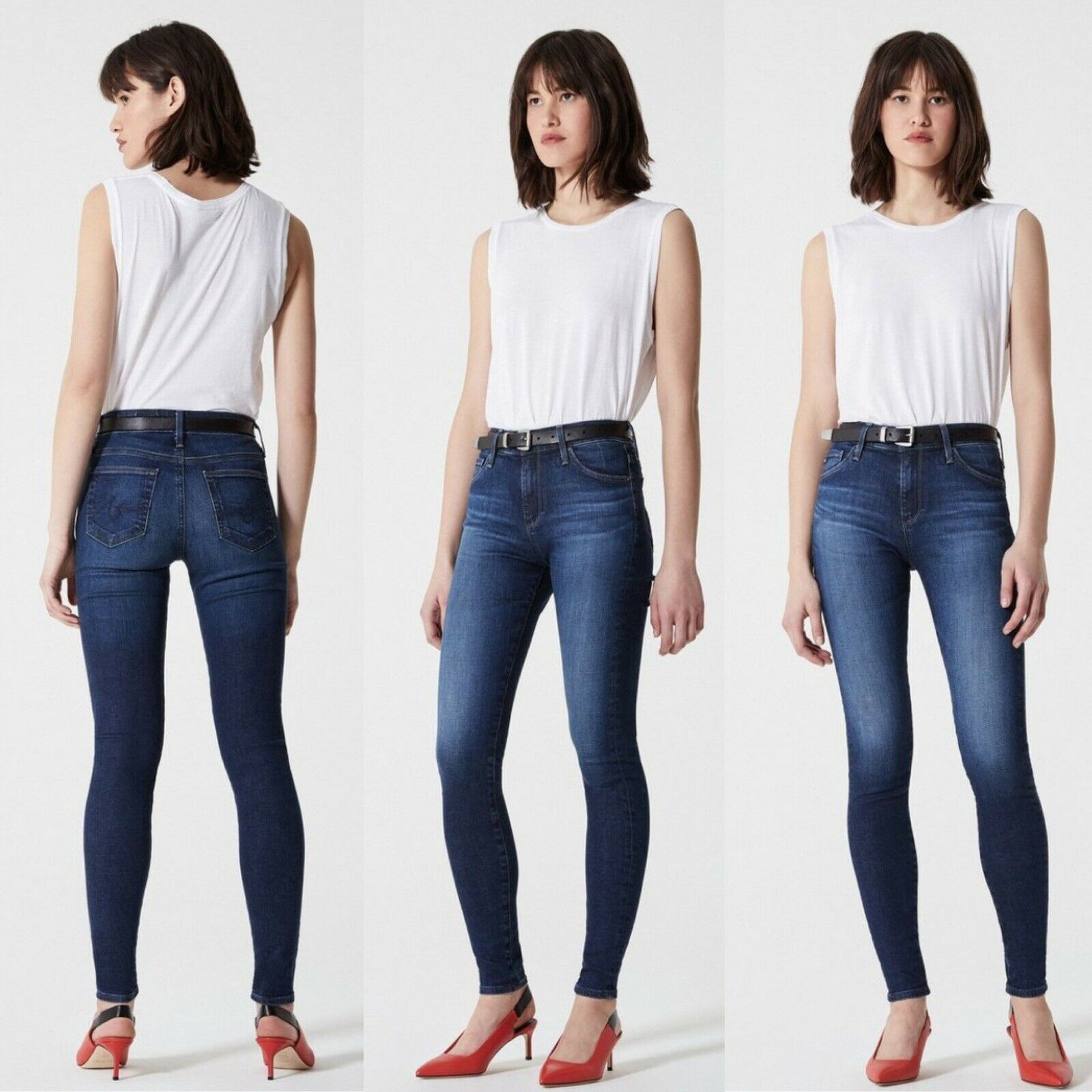 AG Adriano goldschmied Womens 26 The Farrah High Rise Skinny Jean