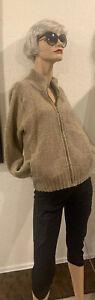 L-L-Bean-Women-039-s-100-Wool-Full-zip-Sweater-Cardigan-S-Beige-EUC