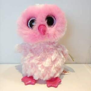 Twiggy-the-Pink-Owl-Ty-Beanie-Boo-Plush-Style-36846-Regular-6-15cm-NEW