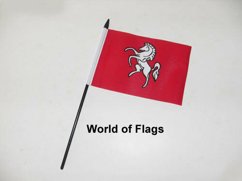 """KENT SMALL HAND WAVING FLAG 6/"""" x 4/"""" County Crafts Table Desk Display"""