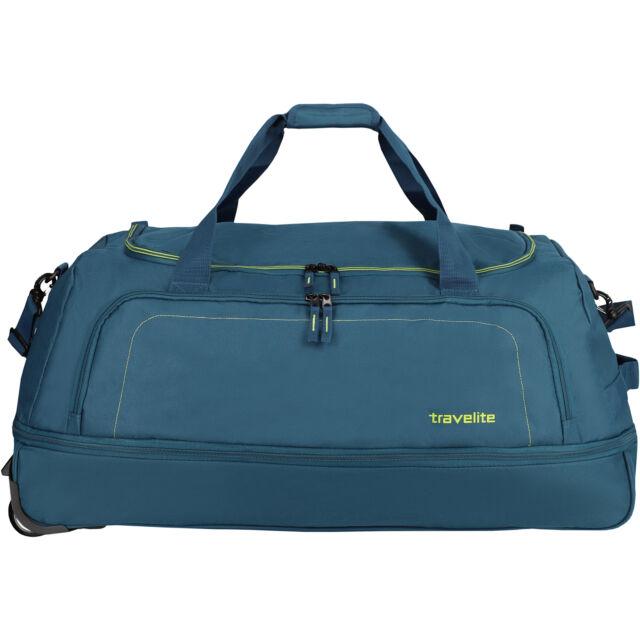 ee782a0f8f Travelite Basics 2 Wheels Rolling Travel Bag 78 Cm (petrol Limone ...