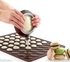 48 cycle Silicone Macaron Macaroon Pastry Cake Baking Mat + Decoration pen Set