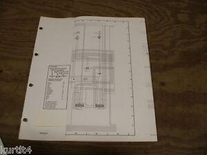 1985 Ford Crown Victoria Mercury Wiring Diagram Schematic Sheet Service Manual Ebay