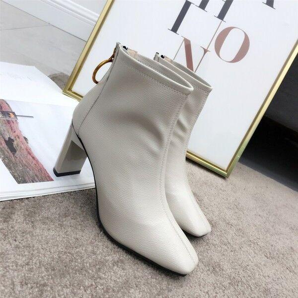 stiefel niedrig komfortabel 8 cm knöchel grau elegant simil leder 9541