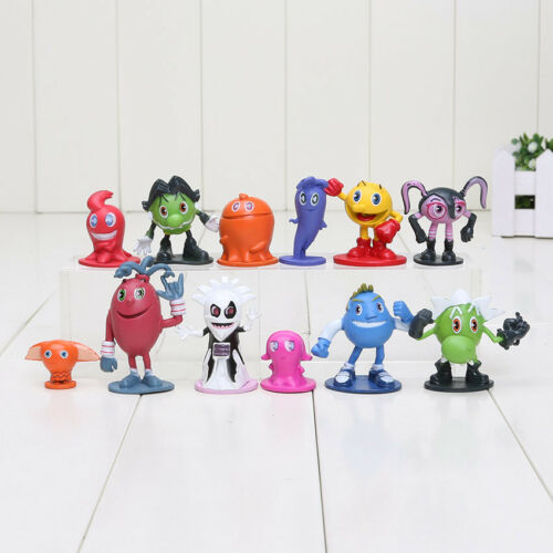 Pacman 12pcs//set New Pixels Moive Pac-Man Ghostly Adventures PVC Action Figure