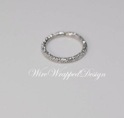 Nose Ring Diamond Cut 14k solide or blanc Hoop Cartilage 16 Gauge Tragus Helix