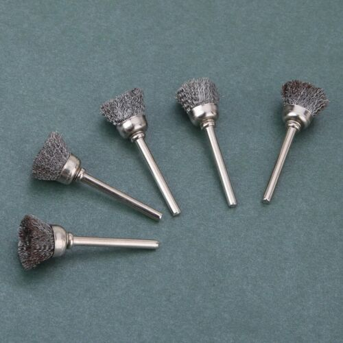10Pcs Mini Wire Brush Brushes Brass Cup Wheel For Grinder Drill Set Tools