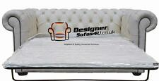 Chesterfield 2 Seater Sofa Bed Premium White Leather Sofa Settee