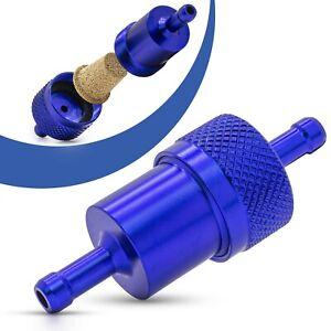 Universal-Kraftstofffilter-7mm-Aluminium-Benzinfilter-KFZ-Auto-Motorrad-Blau