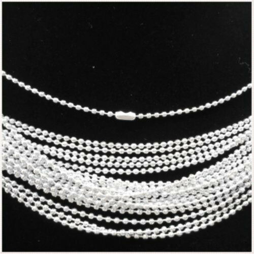 "Lotes de 20-500pcs Plateado Esférica Metal Collar encontrar 19 /""s"