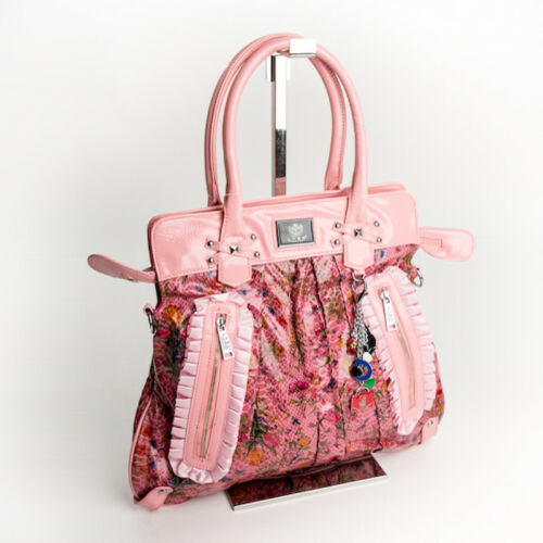 Tasche Design Schulter Henkel Trage 76r Pink Retro Blumen Shopper Citybag  Lydc q8HwYw5 9727c9b75881b