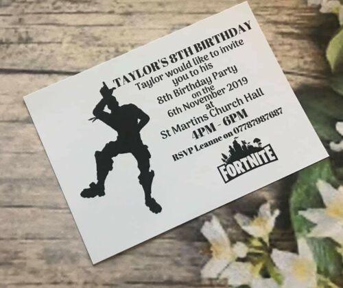 10x Gaming Personalised Invitations