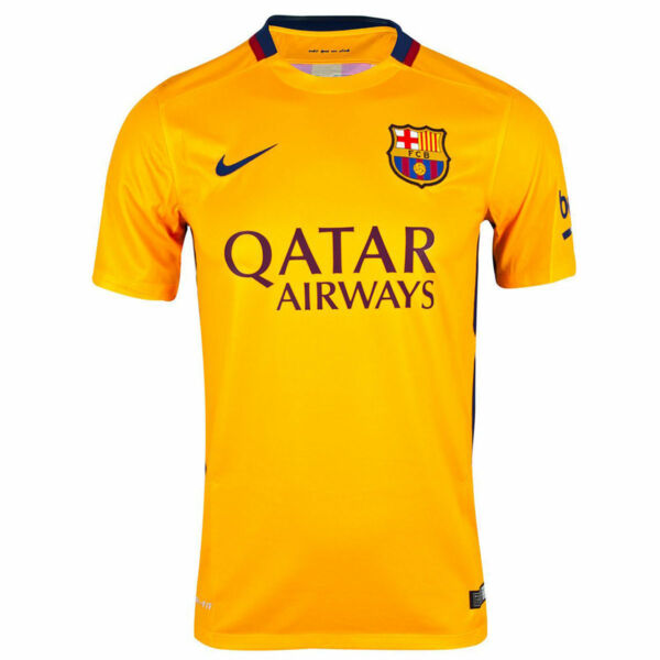 a975cf7f538 Nike Mens 2015 16 FC Barcelona Away Soccer Jersey Gold Red 658785 740 Size  Large
