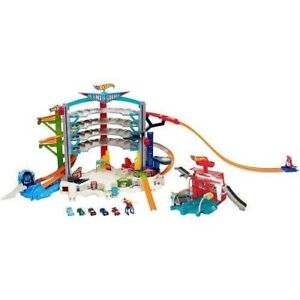 Buy Hot Wheels Ultimate Garage Playset With 5 Cars Helicopter Car