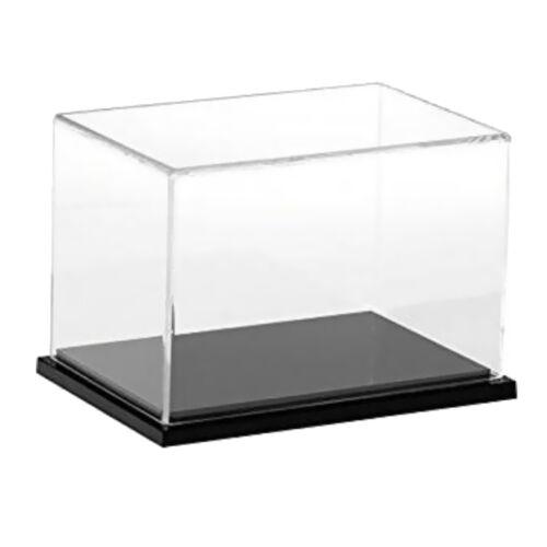 """16x10/"""" trasparente acrilico vetrina antipolvere assemblato modello casella Mostra"""