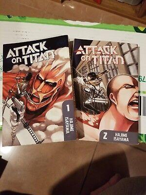 Attack on Titan Manga Volumes 1-2 by Hajime Isayama | eBay