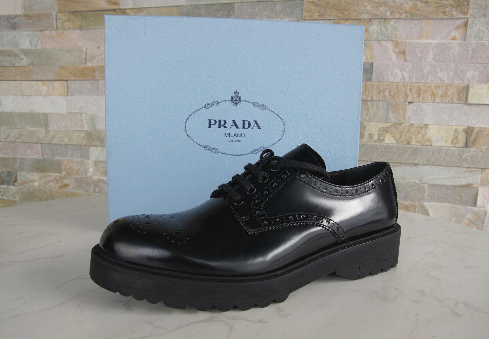 PRADA TAGLIA 41   Basse Budapester normalissime normalissime normalissime scarpe nero nuovo ex UVP 1346be
