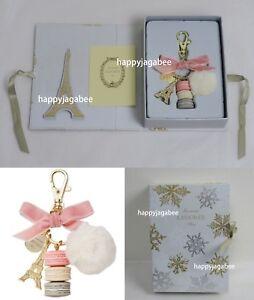 2018 Winter Ltd Laduree Key Chain Macarons Effiel Tower Fleur Des