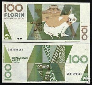 Image Is Loading Aruba 100 Florin P14 1993 Frog Art Unc
